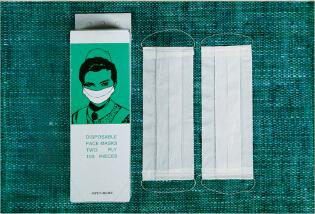 100% wood pulp 2ply paper face mask