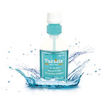 Turmix Mouthwash- Best Mouth wash for Gingivitis, Bad Breath, mouth disease, Periodontits, natural Anti plaque mouthwash , curcumin mouthwash