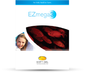 EZ Mega 3 - Fish Oil Concentrate Softgels, Omega-3 Essential Fatty Acids, including EPA and DHA