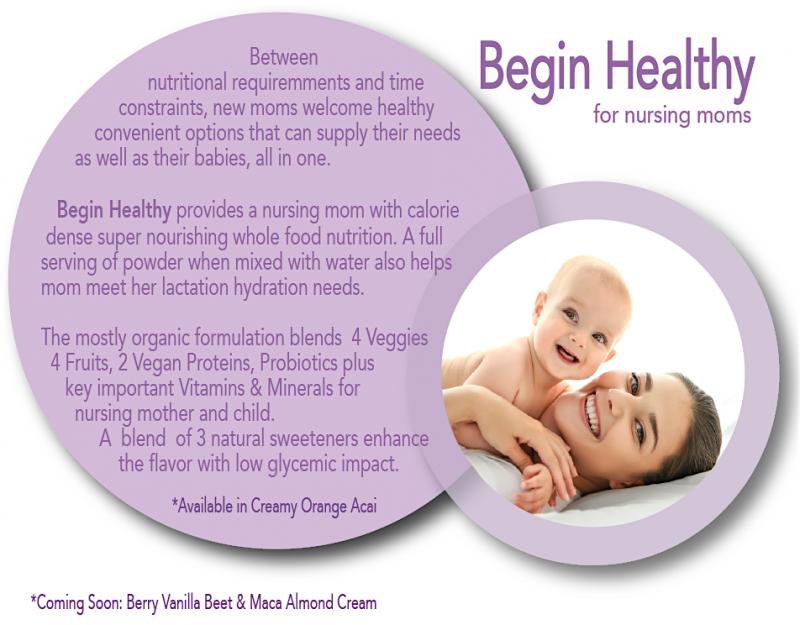 Begin Healthy Nursing Moms Drink Formulation For Private Label