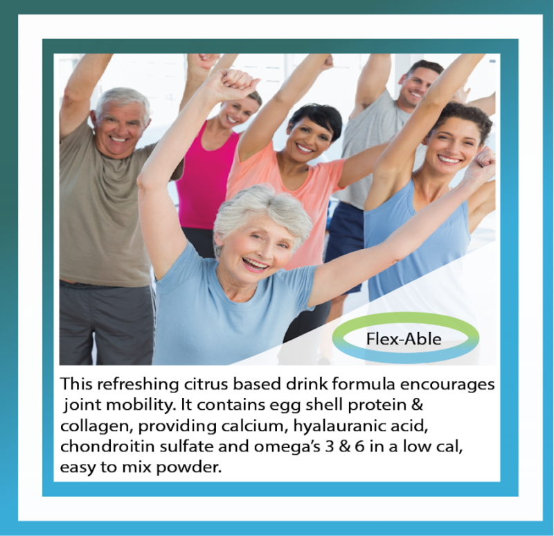 Flex-Able mobility support formulation for private label
