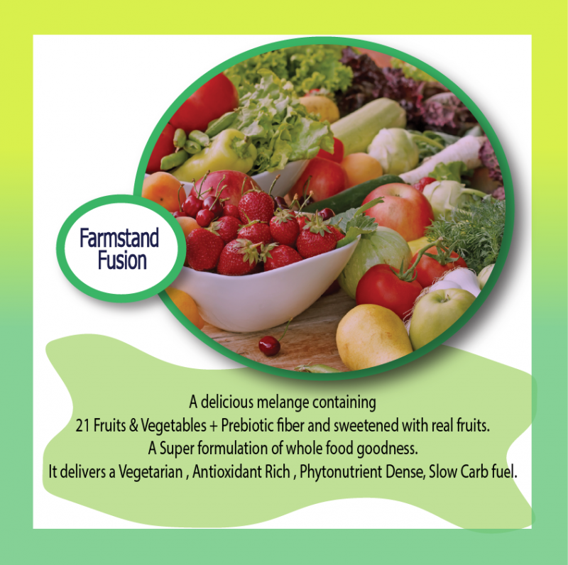 Farm Stand Fusion Formulation, vegan, antioxidant rich, phytonutrient dense, available all organic,
