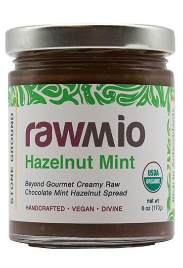 Rawmio Mint - Beyond Gourmet Raw Chocolate Hazelnut Mint Spread - 6 oz