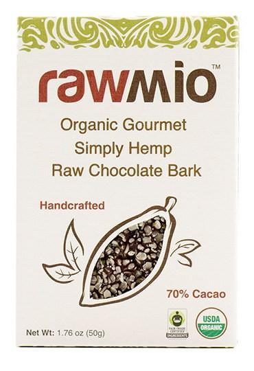 Rawmio Organic Stone Ground Gourmet Simply Hemp Chocolate Bark - 1.76 oz
