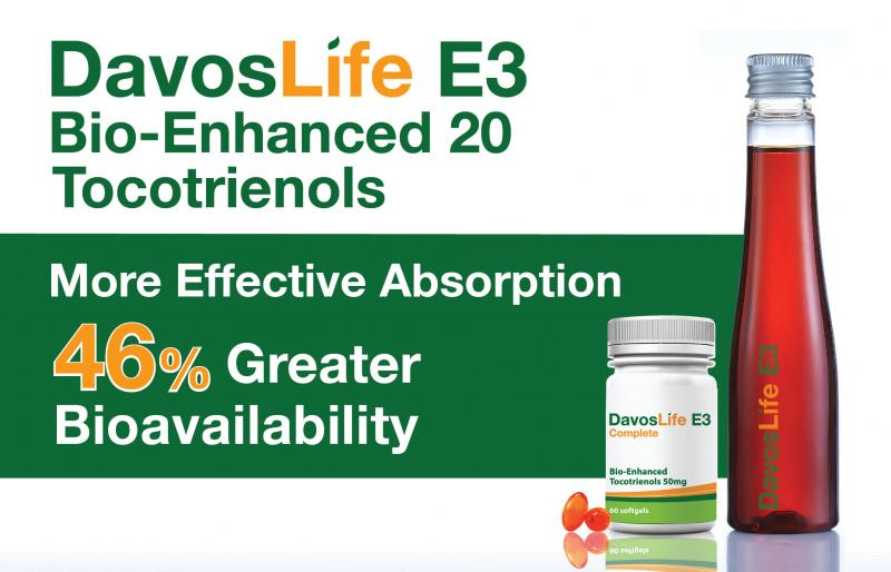 DavosLife E3 Bio-Enhanced 20 Tocotrienols | KLK OLEO | Davos Life Science
