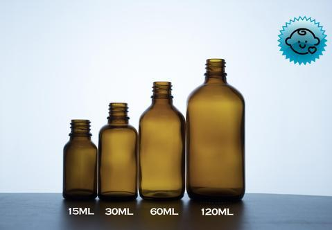 Amber Glass Dropper Bottles 18mm- Tamper Evident/Child Resistant (Vari – DropperBottles.com