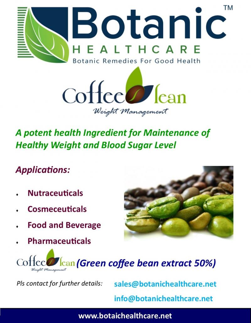Green coffee bean extract 50% by HPLC