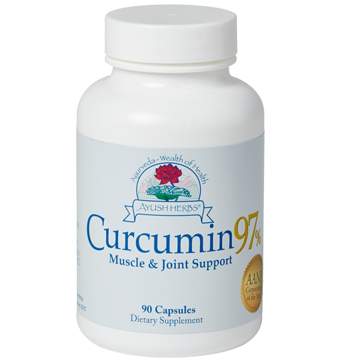 Curcumin 97%™ (90) | Ayush Herbs | Ayurvedic Herbal Medicine