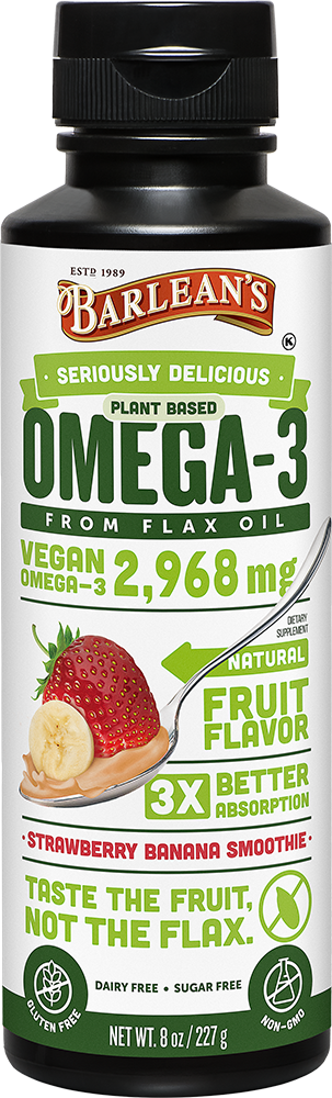 Seriously Delicious™ Omega-3 Flax Strawberry Banana Smoothie
