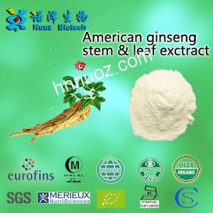 American ginseng stem leaf exctract—Products—Nuoz biological—Advanced and proprietary technologies applied for removal of pesticides, plasticizers, heavy metals and benzopyrene residues in the botanical extract.