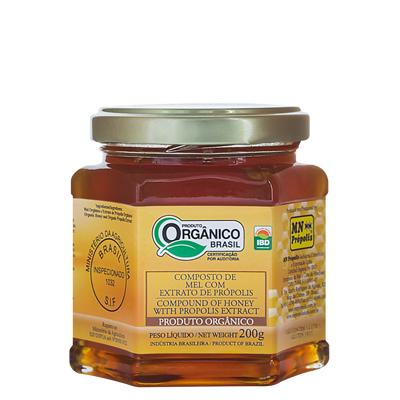 Organic Compound of Honey with Propolis Extract 200g - MN Própolis