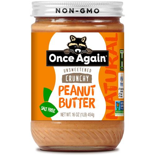 Once Again Nut Butter - Once Again Old Fashioned No Salt Crunchy Peanut Butter 16 oz