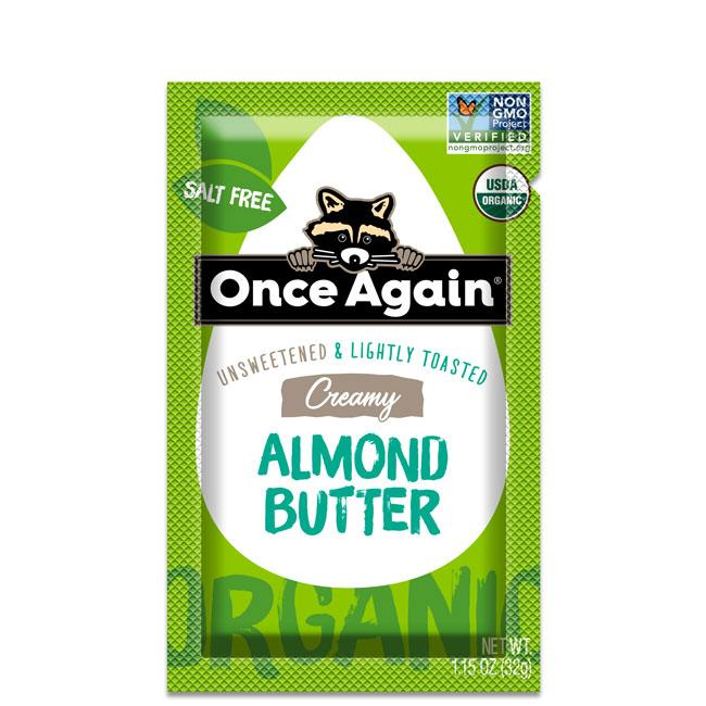 Once Again Nut Butter - Once Again Organic Almond Butter Lightly Toasted Squeeze Pack 10 ct