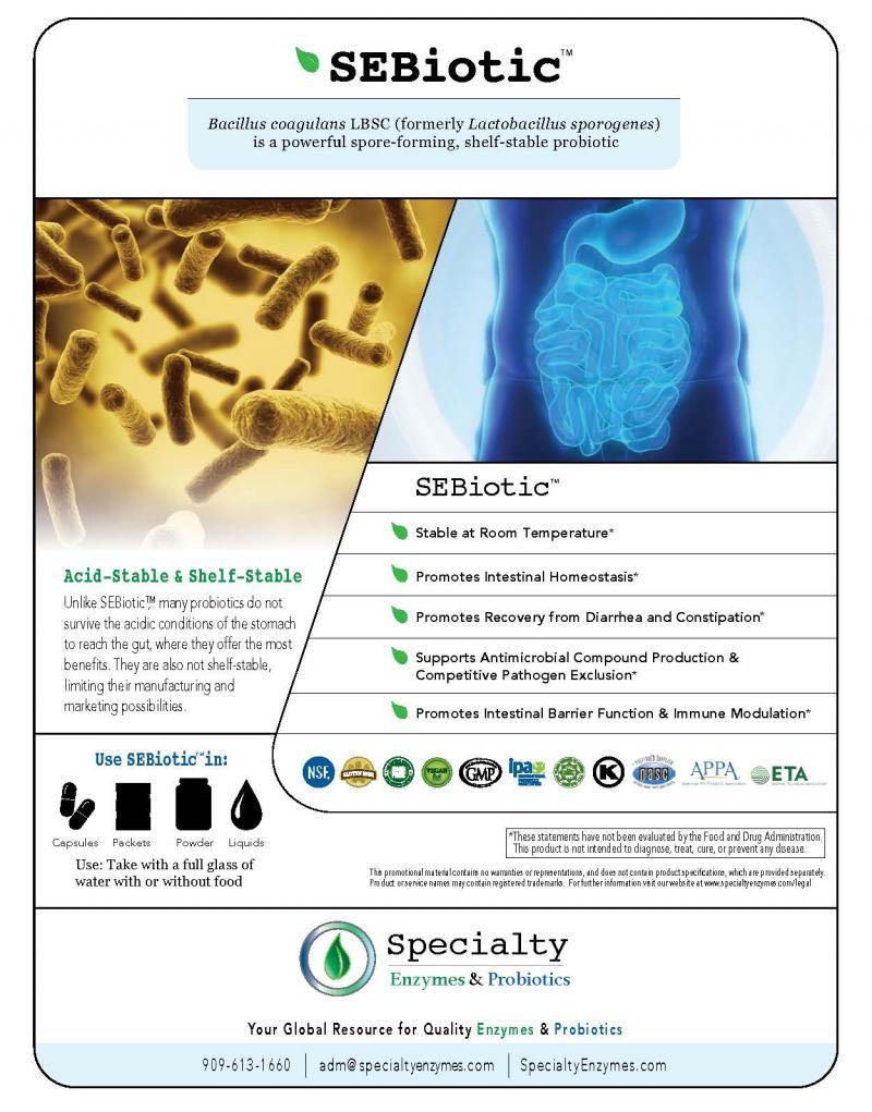 SEBiotic™ bacillus coagulans