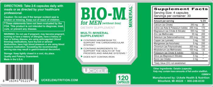 Uckele Health & Nutrition Bio-M for Men