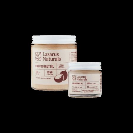 CBD Coconut Oil   Vegan and Gluten Free   Lazarus Naturals