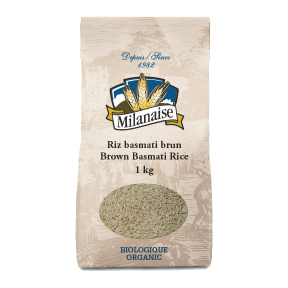 Organic Brown Basmati Rice – La Milanaise