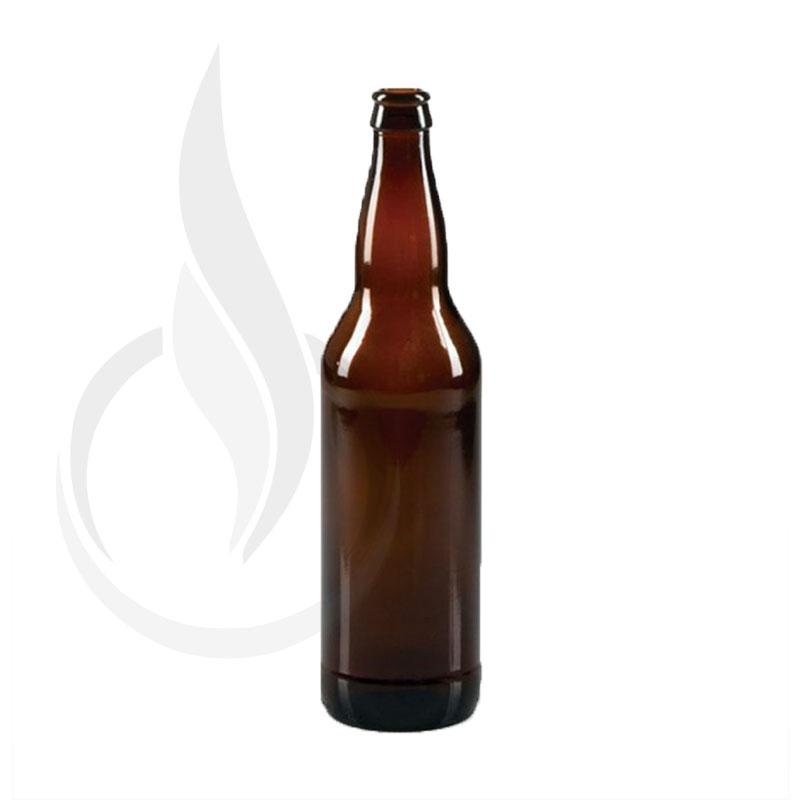 22oz AMBER Long Neck Bomber Beer Bottle - Liquid Bottles LLC