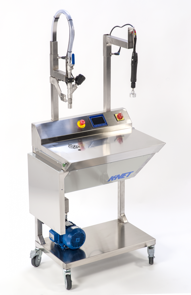 K-net - Semi-automatic filling machine and screw-capping for all products