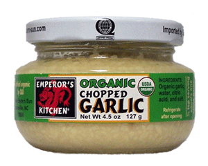 Emperor's Kitchen Organic Chopped Garlic - Great Eastern Sun