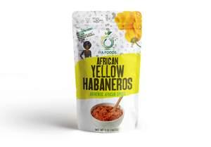 Iya Foods African Yellow Habaneros, Kosher Certified, No Preservatives, No Added Color, No Additives, No MSG ( Yellow Pepper)