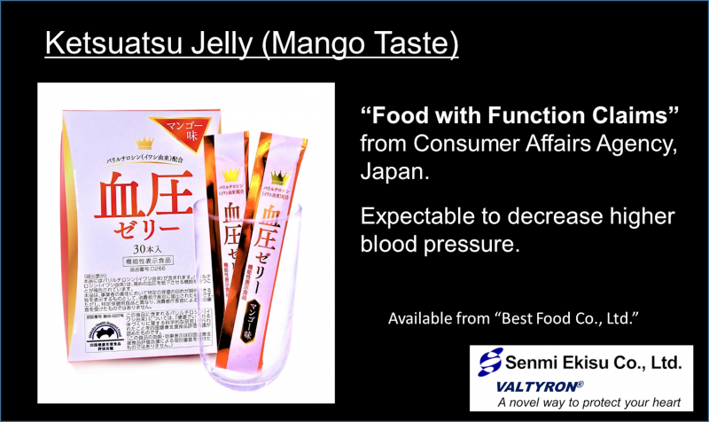Ketsuatsu Jelly, Original End Product including VALTYRON®