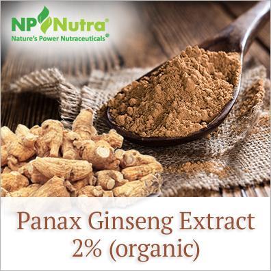 Panax Ginseng Extract 2% (organic) - Nutra Organics
