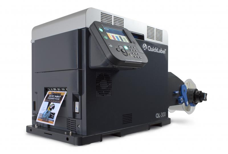 QL-300 - World's first five-color tabletop label printer