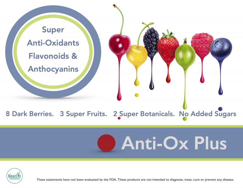 Anti-Ox Plus high antioxidant shelf stable fruit drink blend.
