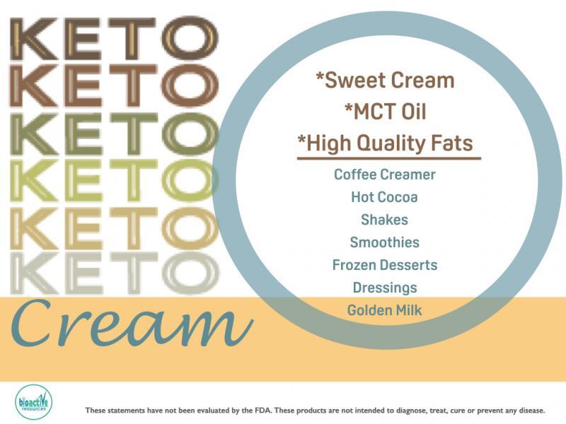 Keto Cream powdered cream blend for private label