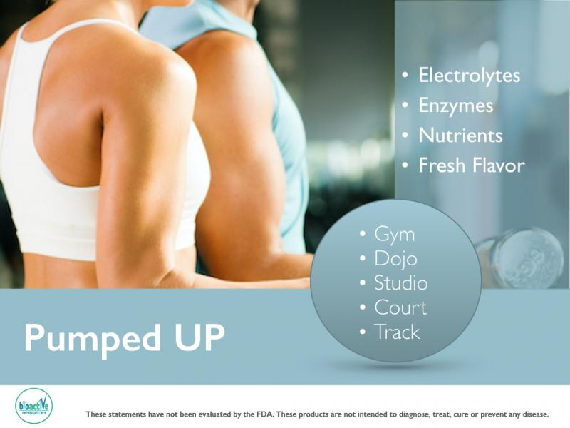 Pumped up Pre-workout powdered drink formulation for private label