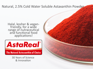 AstaReal 2.5% Cold Water Soluble Astaxanthin Powder
