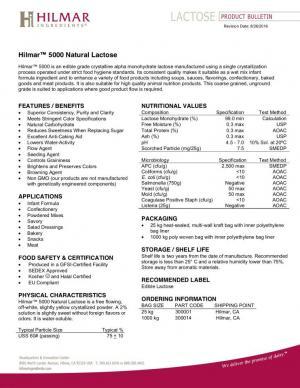 HilmarTM 5000 Natural Lactose · Hilmar Ingredients