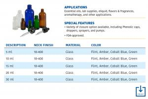 PGS   Glass Dropper Bottles