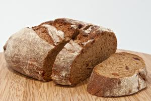 High level of fiber and strong flavor of rye flour