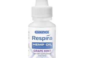 CBD Vape Oil 300mg - Respira - Grape-mint Flavor | Elixinol