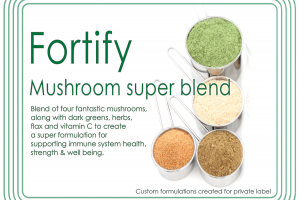 Fortify Custom Super Food Mushroom Blend Created for Private Label