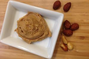organic almond butter, organic peanut butter