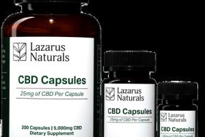 CBD Pills 25mg Dosage | Gluten Free CBD Capsules | Lazarus Naturals