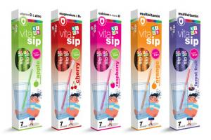 Vitasip Kids Flavored Straws with vitamins and minerals | ViteCer
