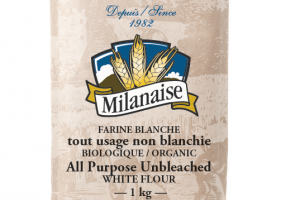 Organic All Purpose Unbleached White Flour – La Milanaise