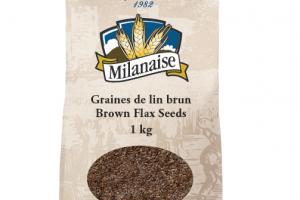 Organic Brown Flax Seeds – La Milanaise
