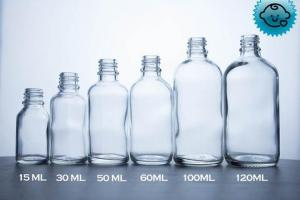 Clear Glass Dropper Bottles 18mm- Tamper Evident/Child Resistant (Vari – DropperBottles.com