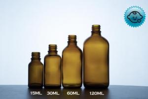Amber Glass Dropper Bottles 18mm- Tamper Evident/Child Resistant (Vari – DropperBottles.com