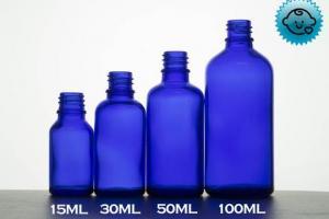 Blue Glass Dropper Bottles 18mm- Tamper Evident/Child Resistant (Varie – DropperBottles.com