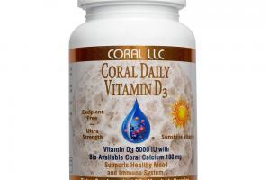 Coral Vitamin D3 Plus 100 Capsules - Coral Calcium