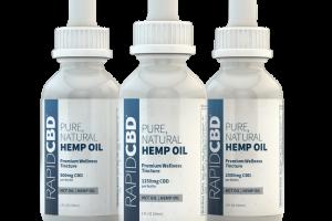 RapidCBD Pure, Natural Hemp Oil Tincture | Isodiol