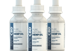 RapidCBD Pure, Natural Hemp Oil Tincture | Isodiol