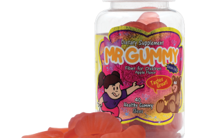 Mr. Gummy Vitamins | Private / White Label Supplements | KIDS SUGAR FREE FIBER SLICES (APPLE) 30 CT