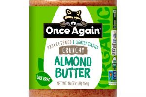 Once Again Nut Butter - Once Again Organic Lightly Toasted Crunchy Almond Butter 16 oz
